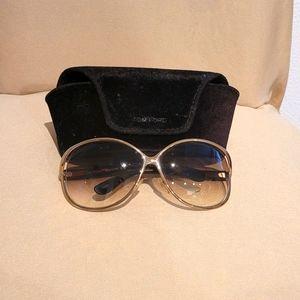 Tom Ford Sunglasses Gold frame Brown lenses